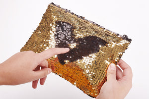 Sequin Gold Pencil Case