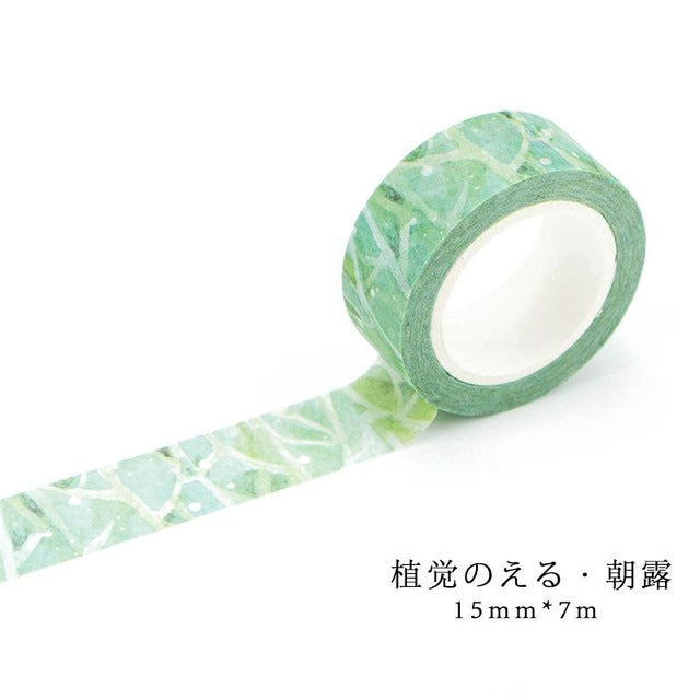 Plants and Flowers Premium Washi Tape