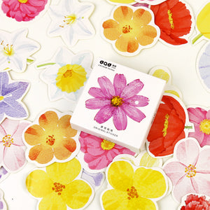 45 Pcs Flower Girl Series Sticker