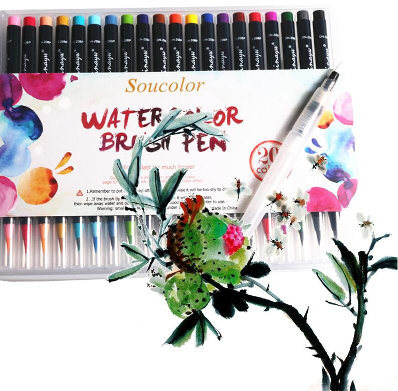 STA 20 Color Premium Soft Brush Pen