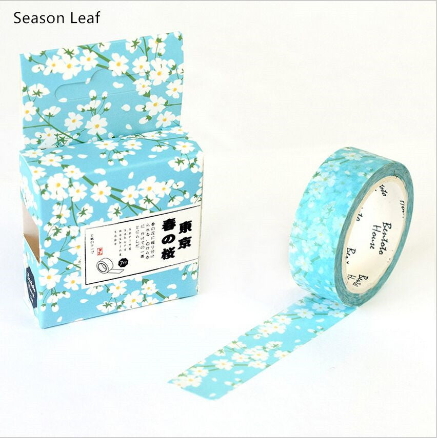 Spring Flower Premium Washi Tape