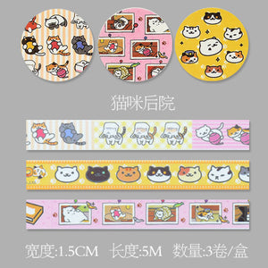 3 Pcs Japanese Pink Style Washi Tape