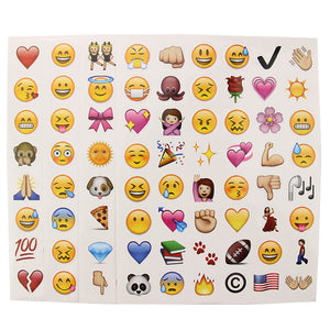 4 Pcs Emoji Sticker Set