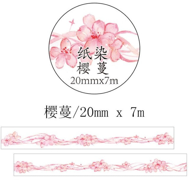 Romatic Blossom Premium Washi Tape