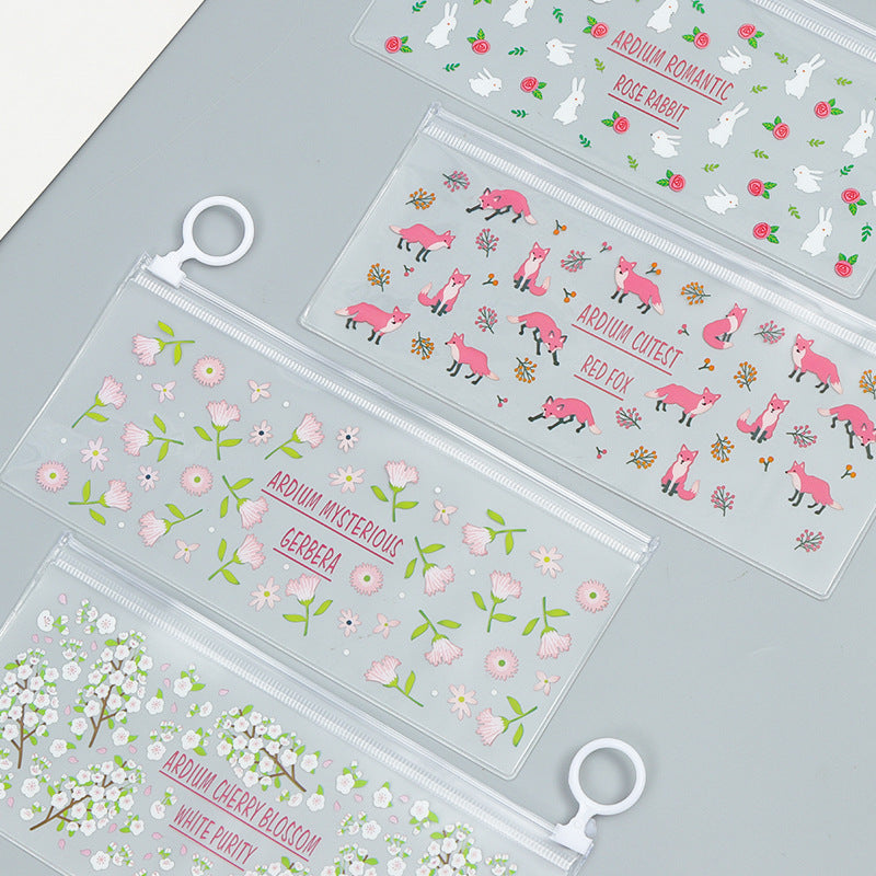 Assorted Transparent Pencil Case