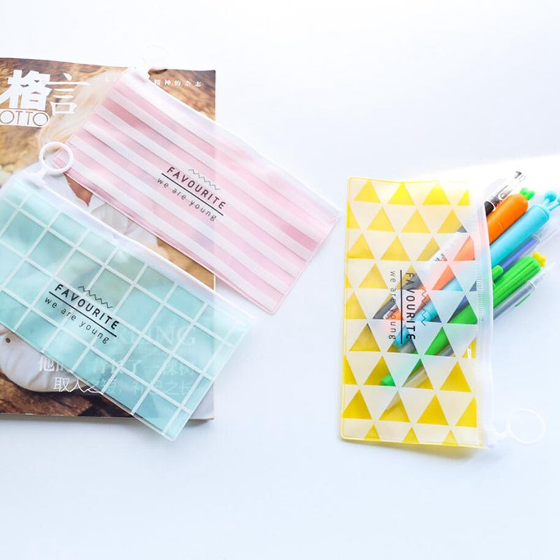 Kawaii Cartoon Transparent Pencil Case