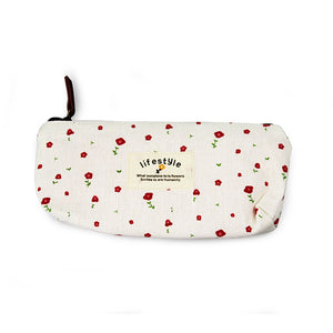 Kawaii Floral Pencil Case