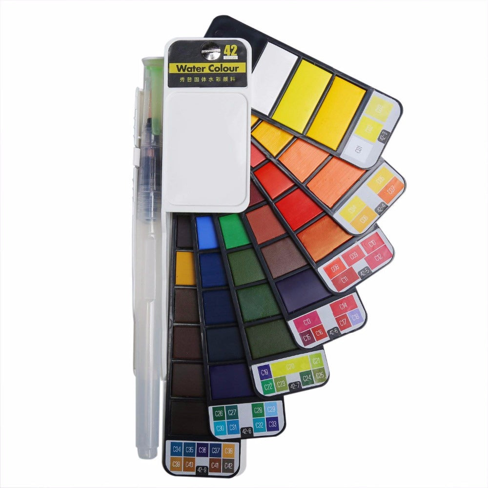 TravelArt™ Portable Watercolor Wheel Set