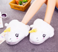 Snuggly Unicorn Slippers