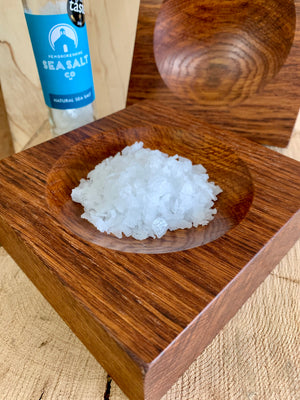 Brown Oak Salt Bowl