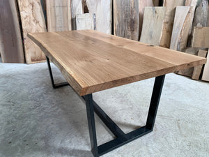 Oak Live Edge Dining Table