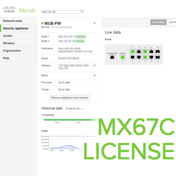 Meraki MX67C License
