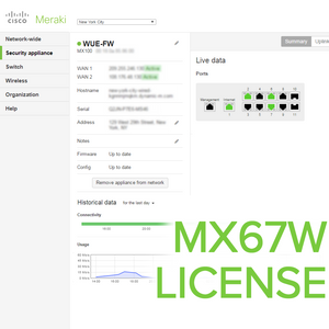 Meraki MX67W License