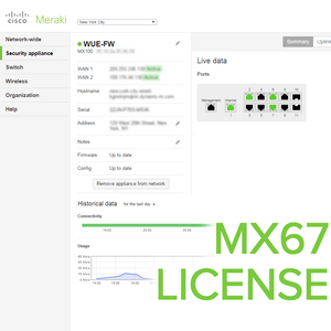 Meraki MX67 License