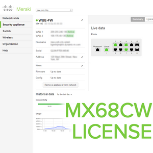 Meraki MX68CW License