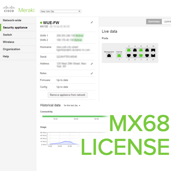 Meraki MX68 License