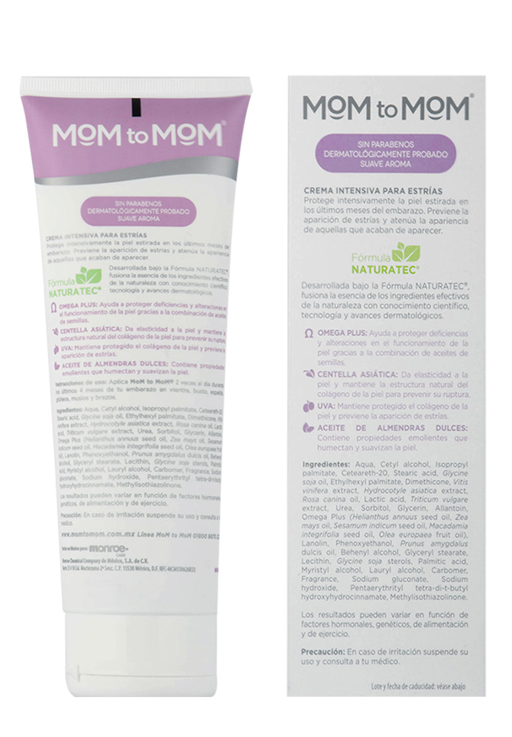 Crema Intensiva para Estrías en el Embarazo MOM to MOM ETAPA b 250ml