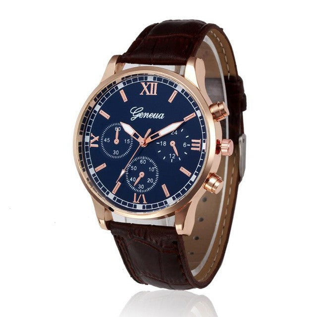 Men Geneva Luxury Watch