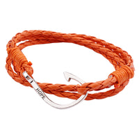 Handmade Multilayer Men Women Leather Braided Cord Rope Bracelet