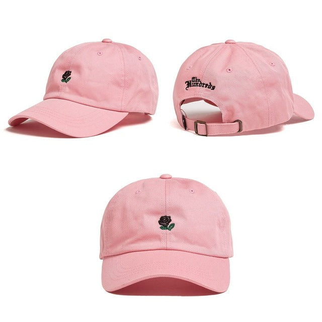 Dad Hat Flower Rose Embroidered
