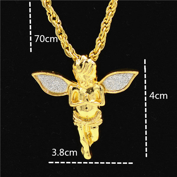 The Praying Hands Pendants & Necklaces Gold Color