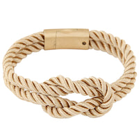 Magnet Woven Leather Rope Bracelet For Men And Women