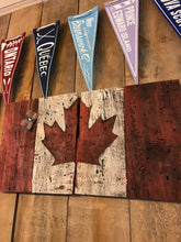 Barnboard Canadian Flag Art