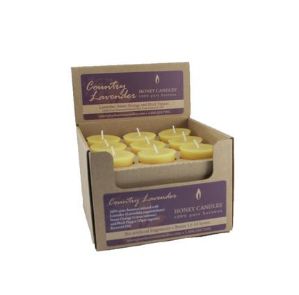 Lavender Beeswax Votive Candle
