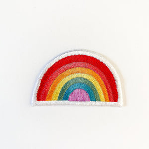 Retro Rainbow Embroidered Patch