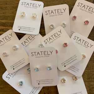 stately crystal studs