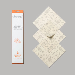 Abeego Beeswax Food Wraps-medium pack