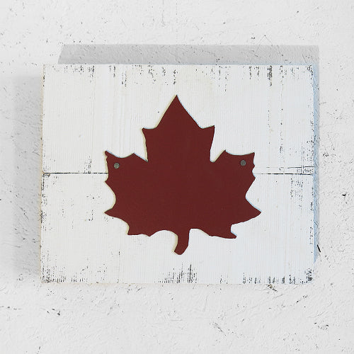 Maple Leaf on Barnboard-Concession Road Mercantile