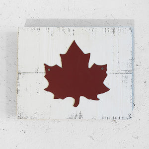 Maple Leaf on Barnboard