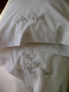 Embroidered & Heat Press Pillowcase Sets