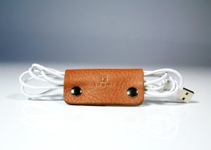 Knemi Leather Cable Organizer