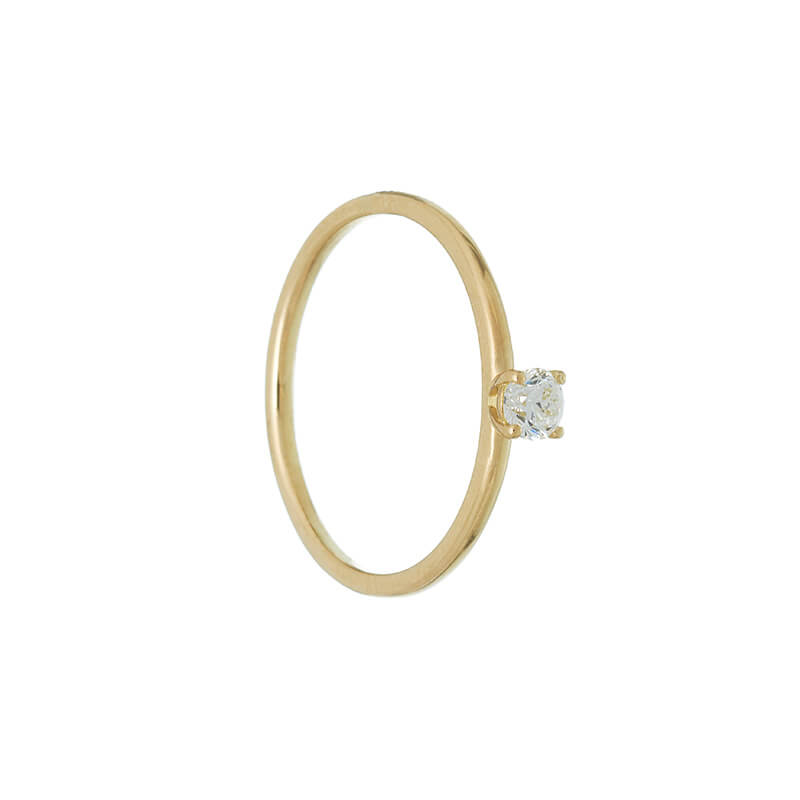 APOLLO | Solitaire Ring | 0.15 ct.