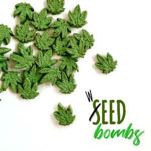 420 Pot Leaf Shaped WILDFLOWER Seed Bombs