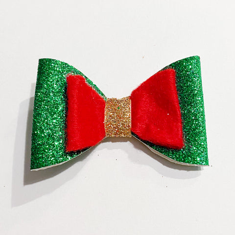Christmas Bow on Clip