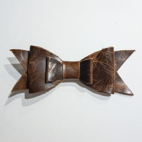 Genuine Leather Bow on Clip