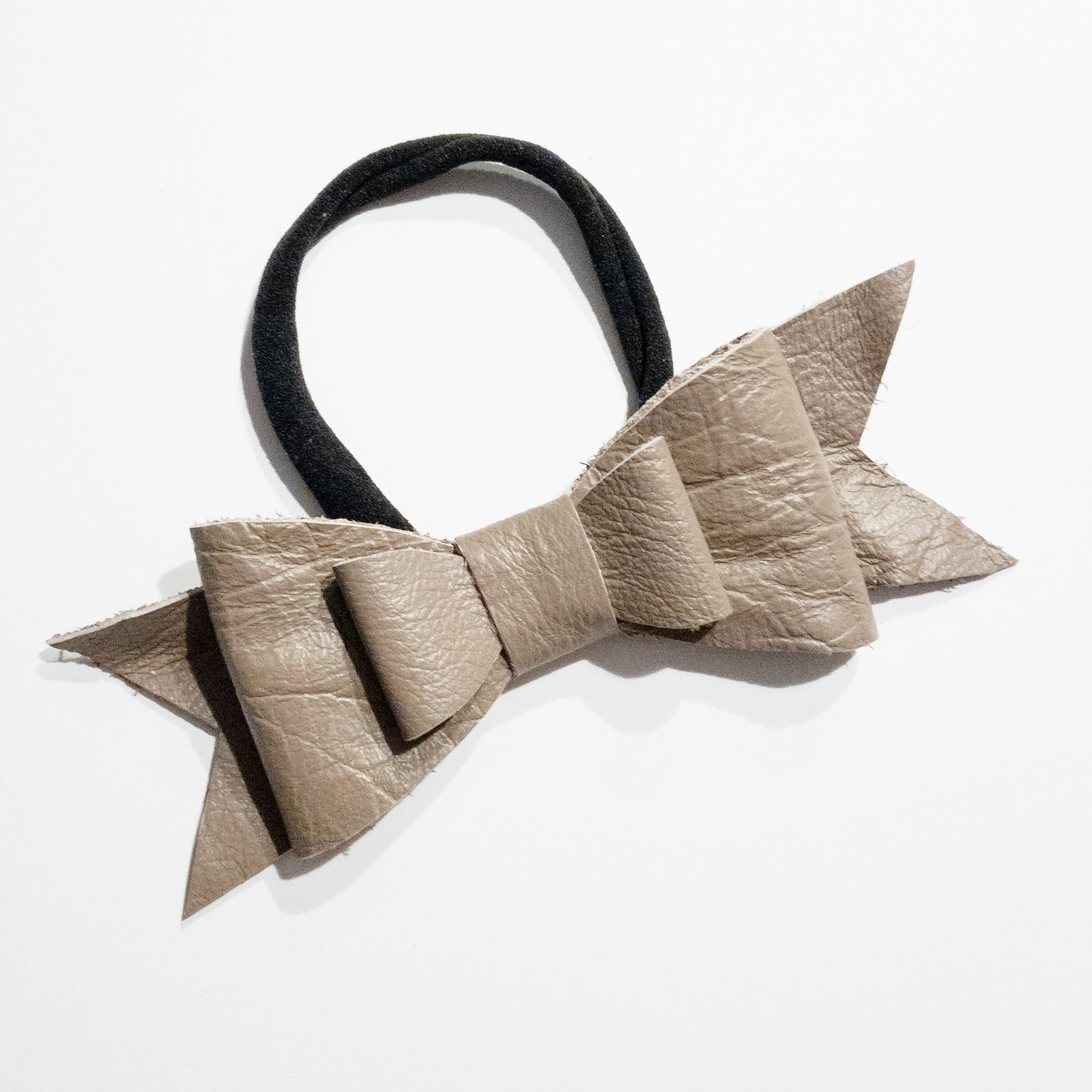 Leather Bow Headband