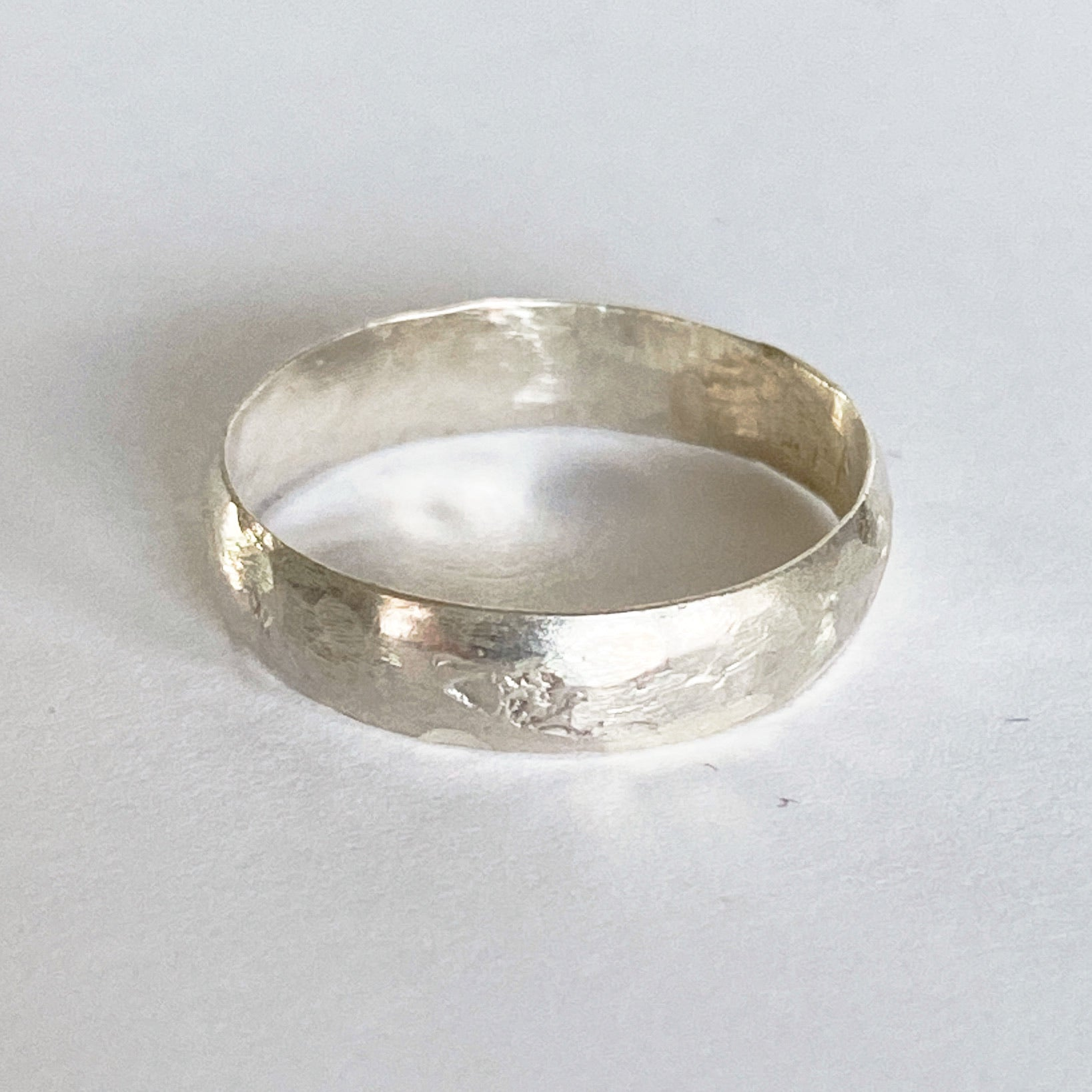 Handmade Hammered Sterling Silver Ring size 8
