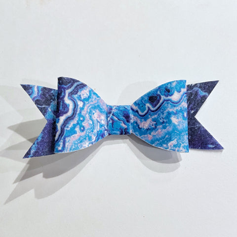 Geode Inspired Bow on Clip