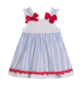 SS21 Newness Baby Girls Candy Stripe Dress & Pants Set
