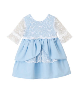SS21 Newness Girls Ocean Lace Dress