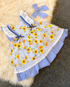 SS21 Newness Girls Sunflower Dress