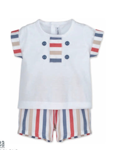 SS21 Calamaro Fairground Stripes Shorts Set