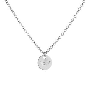 Spoke Disc Necklace