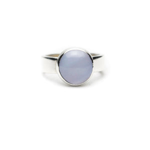 XL Blue Lace Agate Stone Ring