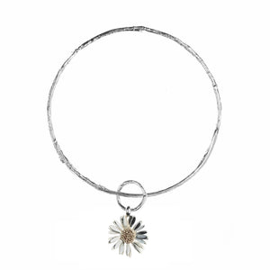 Twig Bangle with Daisy Charm