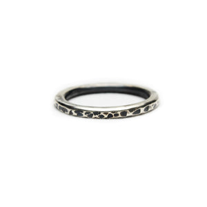 Oxidised Textured Stacking Ring